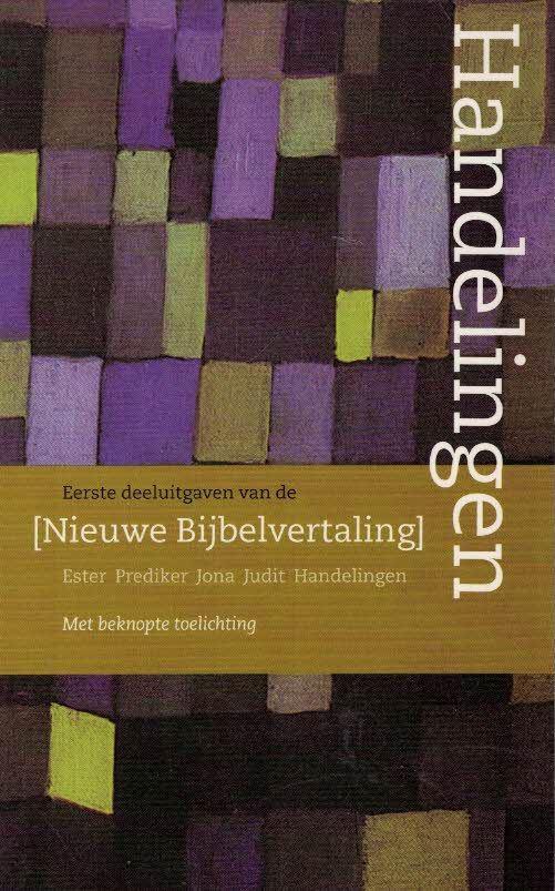 Handelingen-eerste deeluitgaven-Nieuwe Bijbelvertaling-9789061268550