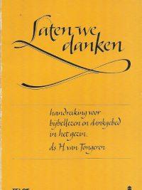 Laten we danken Ds. H. van Tongeren