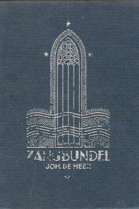 Zangbundel Joh. de Heer No. 2 869 liederen en koren 857e 913e duizend