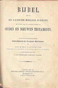 Bijbel dat is de gansche heilige schrift uit 1913