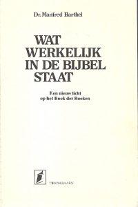 Wat werkelijk in de Bijbel staat