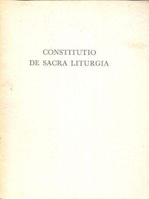 Constitutio de sacra liturgia met begeleidend schrijven