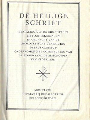 De Heilige Schrift 1948