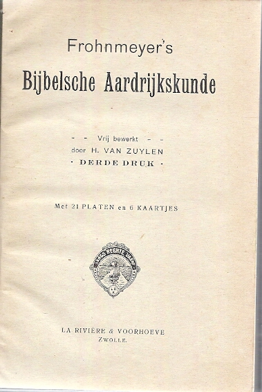 Frohnmeyers Bijbelse Aardrijkskunde blad