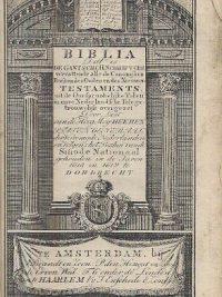BIBLIA Dat is de Gantsche H.Schrifture vervattende alle 1839