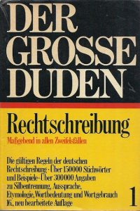Der grosse Duden band 1 16 1967