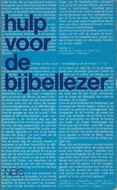 Hulp voor de bijbellezer Nederlands Bijbelgenootschap 9061264006 9789061264002 10e druk