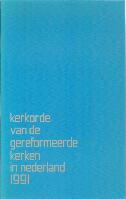 Kerkorde van de Gereformeerde Kerken in Nederland 1991