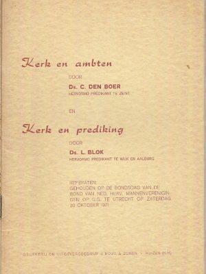 Kerk en ambten Kerk en prediking Referaten 30 10 1971