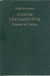 Novum testamentum Graece et Latine Nestle Aland 3e druk