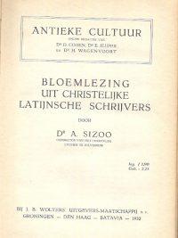 Bloemlezing uit christelijke Latijnsche schrijvers A. Sizoo