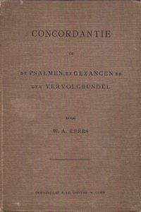 Concordantie op de berijmde Psalmen W.A. Keers