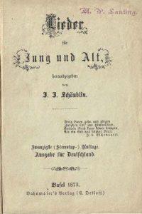 Lieder für Jung und Alt herausgegeben von J.J. Schäublin