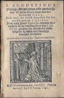 S. Augustinus Vierige meditatien ofte aendachten 1645 blad