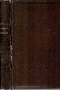 Grieksch-Theologisch Woordenboek-DEEL 1 - A - J -Dr. J.M.S. Baljon-1895