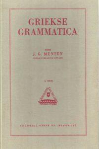 Griekse grammatica-J.G. Menten-2e druk