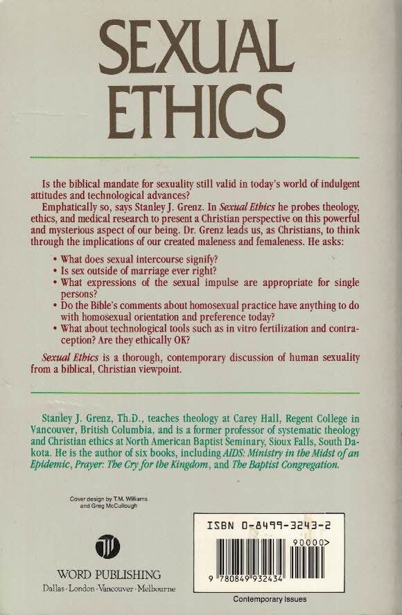 christian sexual ethics essay One body an essay in christian sexual ethics nd studies in ethics and culture pdf book download added by ellie bishop on october 11 2018 it is a downloadable file of one body an essay in christian sexual ethics nd studies in ethics and culture that reader could be got this with no registration at.