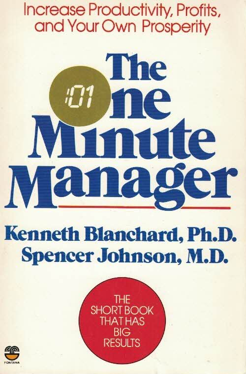 The One Minute Manager-Kenneth Blanchard- Spencer Johnson-9780006367536
