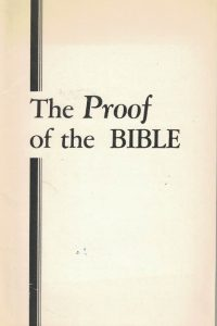 The Proof of the Bible-Herbert W. Armstrong