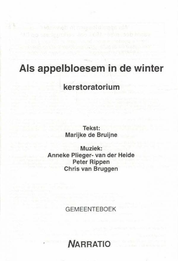Als appelbloesem in de winter-kerstoratorium-Gemeenteboek-9052631360