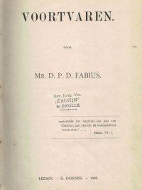 Voortvaren door mr. D.P.D. Fabius