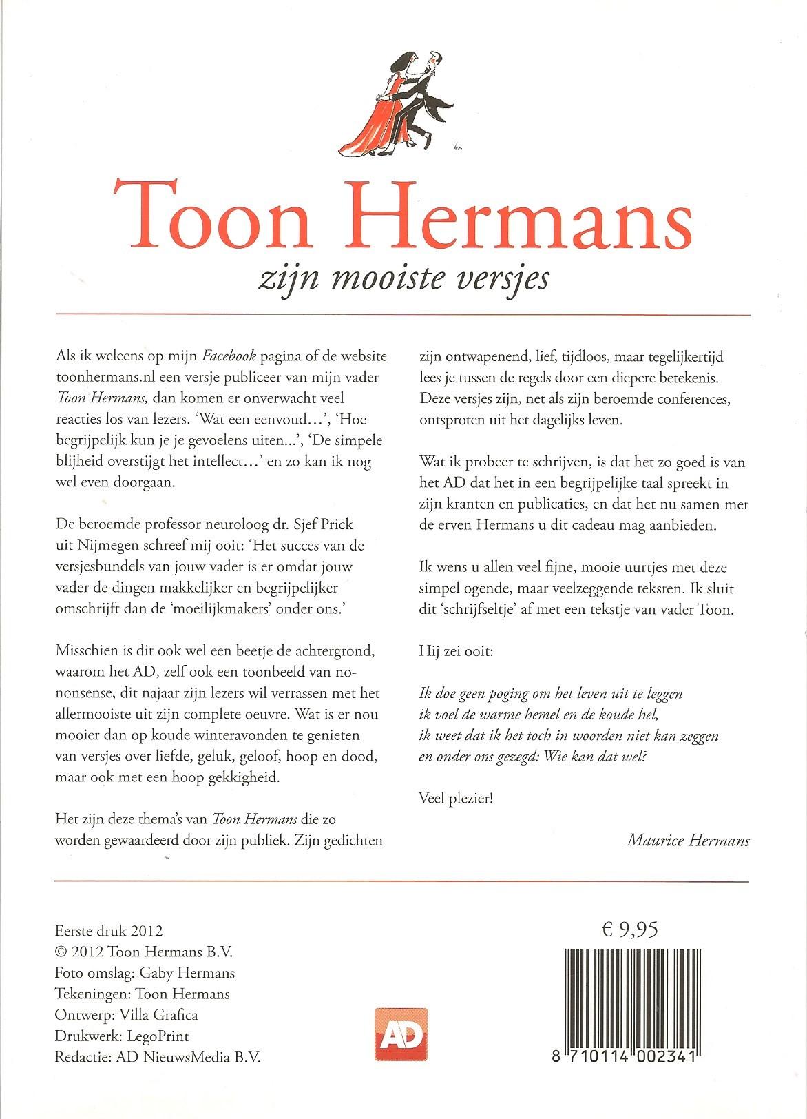 Uitzonderlijk Toon Hermans zijn mooiste versjes VV92