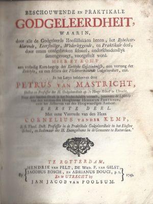 Beschouwende en praktikale godgeleerdheit-Peter van Mastricht-1e Deel
