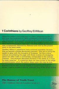 1 Corinthians-A Digest of Reformed Comment-Geoffrey B. Wilson-1971_B