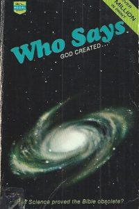 Who Says God created-Fritz Ridenour