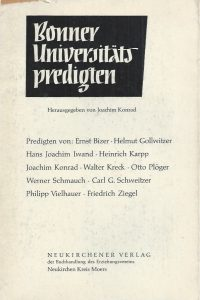Bonner Universitatspredigten-Herausgegeben von Joachim Konrad-1959