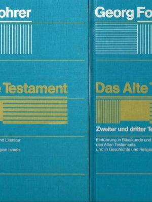 Das Alte Testament-Einfuhrung in Bibelkunde-Georg Fohrer-3579040448-35790404565-2 banden