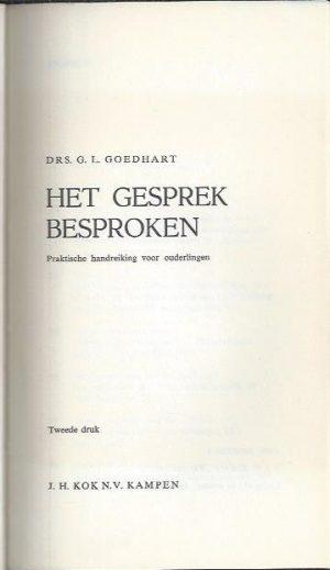 Het gesprek besproken-Dr. G.L. Goedhart-9024232783-2e druk_P