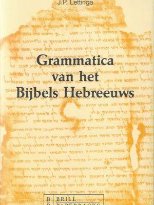 Grammatica van het Bijbels Hebreeuws-J. P. Lettinga-9004095640