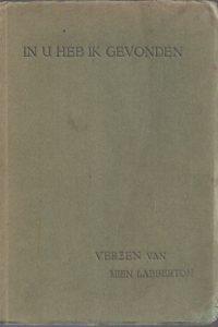 In U heb ik gevonden, verzen van Mien Labberton_1926