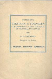 Verstaan en toepassen 1e deel-Dr. J. Karsemeijer-8e druk_B