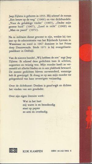 Wij hebben de zon-Jaap Zijlstra-9024259924-1975_B