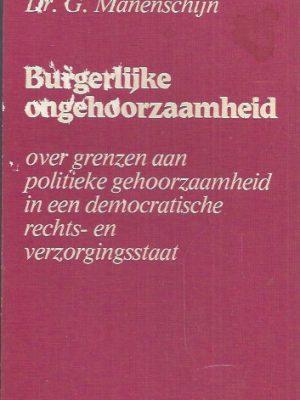 Burgerlijke ongehoorzaamheid-G. Manenschijn-9025942458