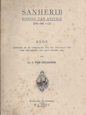 Sanherib-Rede gehouden door Dr. C. van Gelderen-1915