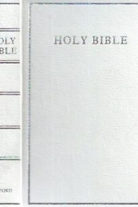 The Holy Bible-Oxford-White small Pocketbook Imitation Leather, 1182 pages