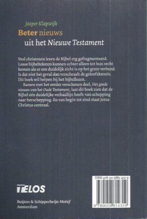 Beter nieuws uit het Nieuwe Testament-Jasper Klapwijk-9789058814319_B