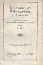 De dwaling der Pinkstergemeente te Amsterdam-A. Zijp