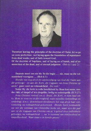 Die Kerk, Oppad na Volmaaktheid-Dr. James van Zijl-0947033289_B