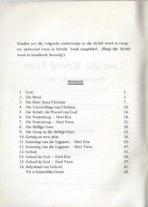 Laat die Woord Lewe-Bybelstudieboek Nr. 1-James van Zijl_Inhoud