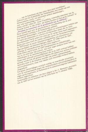 ersonen en momenten uit de geschiedenis van de Anti-Revolutionaire Partij-C. Bremmer-9061353114_B