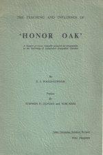 The teaching and influence of Honor Oak-E.J. Poole-Connor