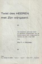 Twist des HEEREN met Zijn wijgaard door Ds. F. v. Deursen