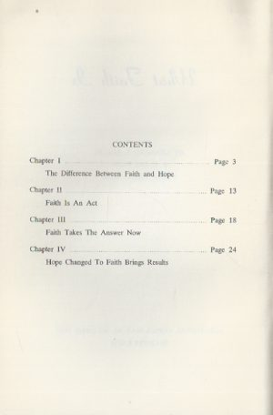 What Faith Is-By Kenneth Hagin_Contents