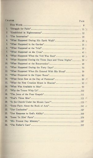 What Happened from the Cross to the Throne-E.W. Kenyon-First 10,000 edition_Contents