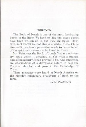 Wrong-Way Jonah-G. Christian Weiss-1972_Foreword