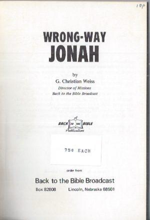 Wrong-Way Jonah-G. Christian Weiss-1972_P